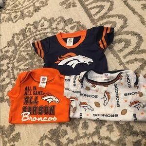 Broncos Onesies